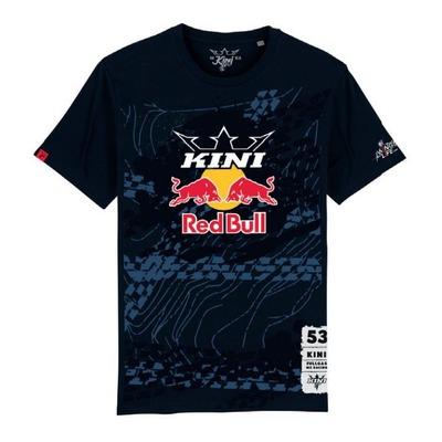 T-shirt enfant Kini Red Bull Tonography bleu nuit