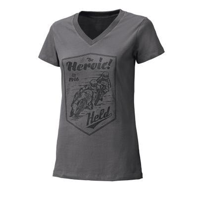 T-Shirt femme Held Be Heroic gris