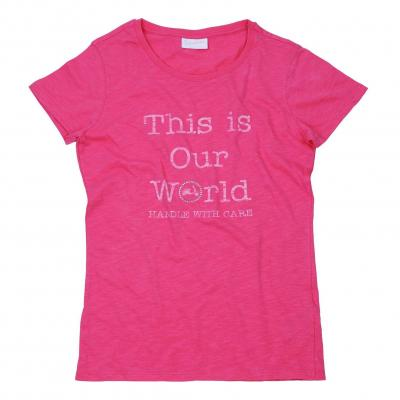 T-shirt femme Vespa This Is Our World rose