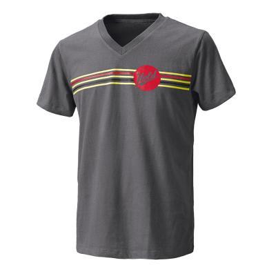 T-Shirt Held Be Heroic gris/rouge
