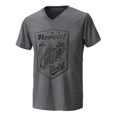 T-Shirt Held Be Heroic gris