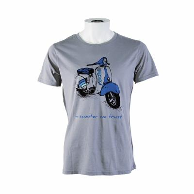 T-shirt homme Polini Scooter gris