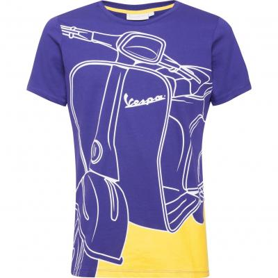 T-shirt homme Vespa 70 Years Young mauve/jaune