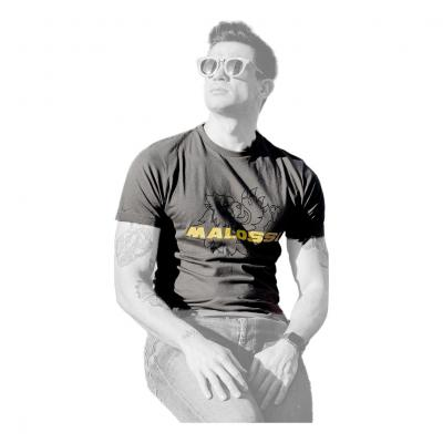 T-Shirt Malossi anthracite/Jaune fluo