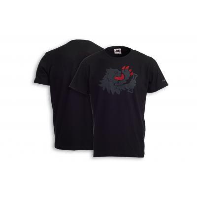 T-shirt Malossi griffe lion noir
