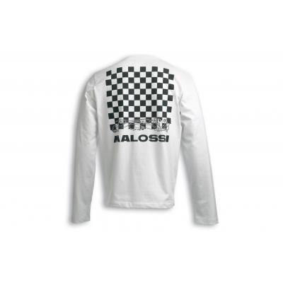 T-shirt Malossi manche longue griffe logo blanc