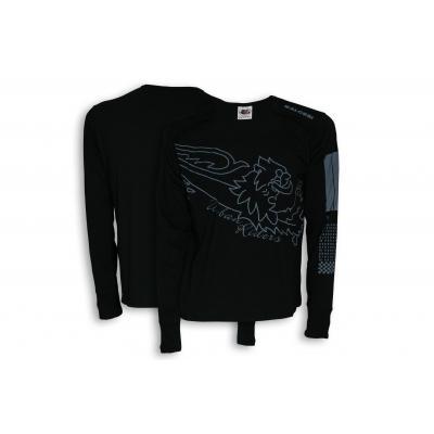 T-shirt manche longue Malossi Bar code noir
