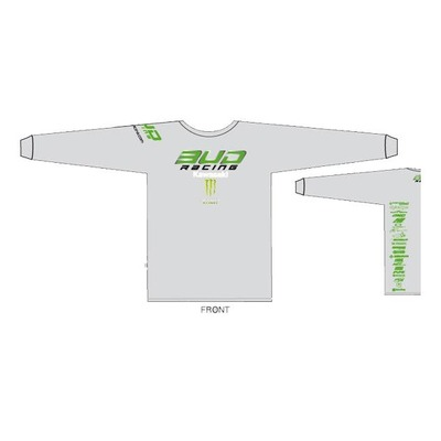 T-shirt manches longues Bud Racing LS kawasaki team blanc/vert