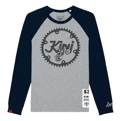 T-shirt manches longues Kini Red Bull Ritzel gris chiné/bleu nuit