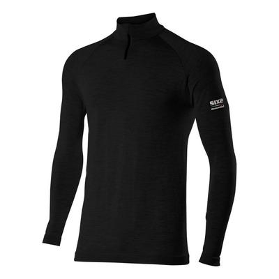 T-shirt manches longues Sixs TS13 Merinos noir