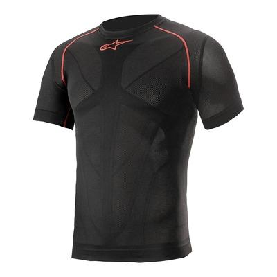 T-shirt technique manches courtes Alpinestars Ride Tech v2 noir/rouge