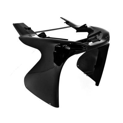 Tablier avant inférieur noir brillant adaptable Nitro/Aerox