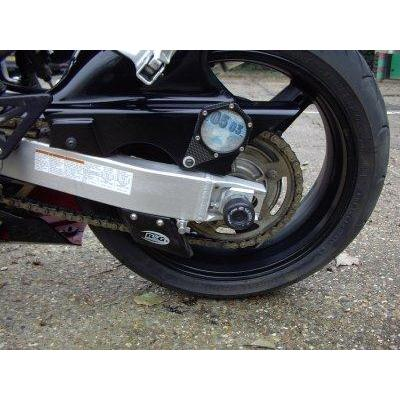 Tampons de bras oscillant R&G Racing noir Suzuki GSX-R 600 97-05