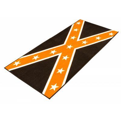 Tapis de garage BikeTek Serie 3 Confederate noir / orange