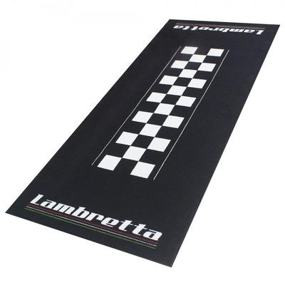Tapis de garage BikeTek Serie 4 Lambretta noir/blanc 190x80cm