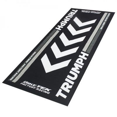Tapis de garage BikeTek Serie 4 Triumph noir/gris 190x80cm