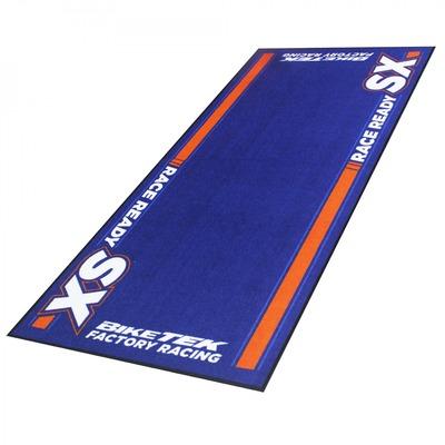 Tapis de garage BikeTek Serie 5 KTM SX bleu/orange 190x80cm