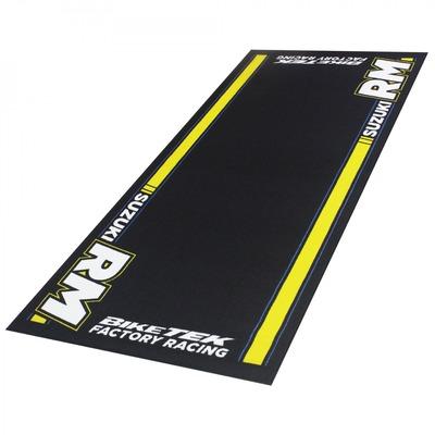 Tapis de garage BikeTek Serie 5 Suzuki RM noir/jaune 190x80cm