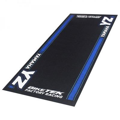 Tapis de garage BikeTek Serie 5 Yamaha YZ noir/bleu 190x80cm