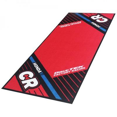 Tapis de garage BikeTek Serie 6 Honda CR noir/rouge 190x80cm