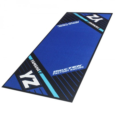 Tapis de garage BikeTek Serie 6 Yamaha YZ noir/bleu 190x80cm