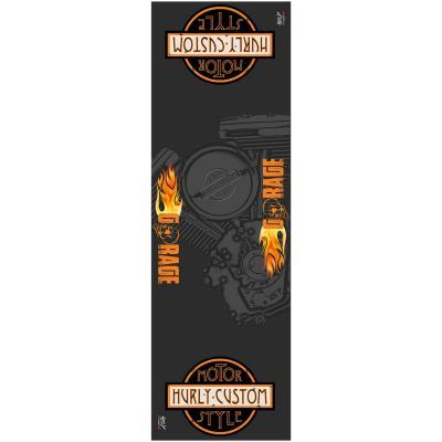 Tapis environnemental Hurly Custom 80cm x 250cm noir/orange