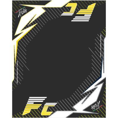 Tapis environnemental Hurly FC 100cm x 160cm rouge/noir