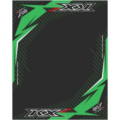 Tapis environnemental Hurly KXF 100cm x 160cm vert/noir