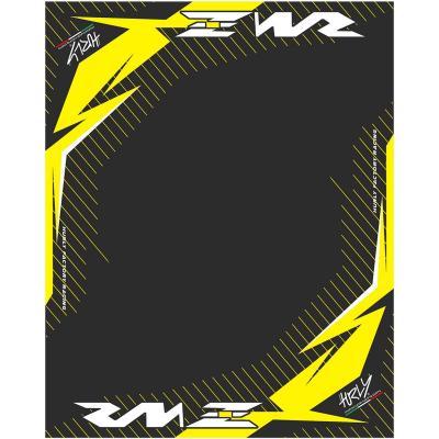 Tapis environnemental Hurly RMZ 100cm x 160cm jaune/noir
