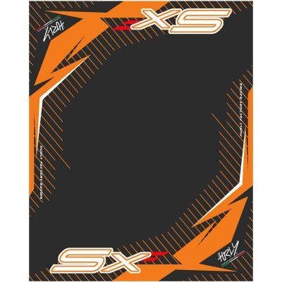 Tapis environnemental Hurly SX 160cm x 200cm orange/noir