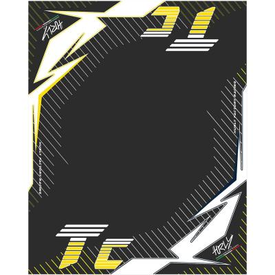 Tapis environnemental Hurly TC 160cm x 200cm jaune/noir
