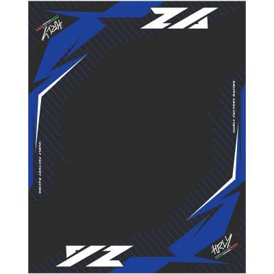 Tapis environnemental Hurly YZ 100cm x 160cm bleu/noir