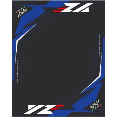 Tapis environnemental Hurly YZF 100cm x 160cm bleu/noir