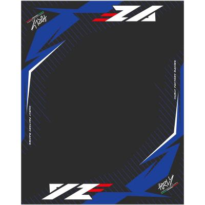 Tapis environnemental Hurly YZF 160cm x 200cm bleu/noir