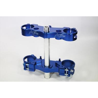 Té de fourche Kite Yamaha 450 YZ-F 10-15 Offset 22mm bleu