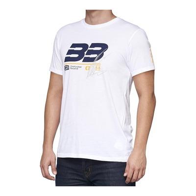 Tee-shirt 100% BB33 Brad Binder Signature blanc