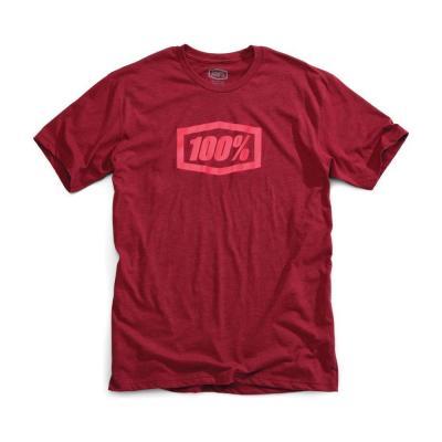 Tee shirt 100% Essential bordeaux