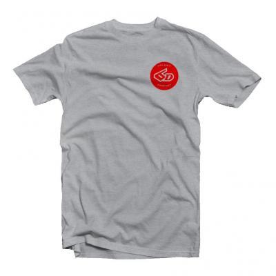 Tee-shirt 6D Circle Charcoal Teal gris