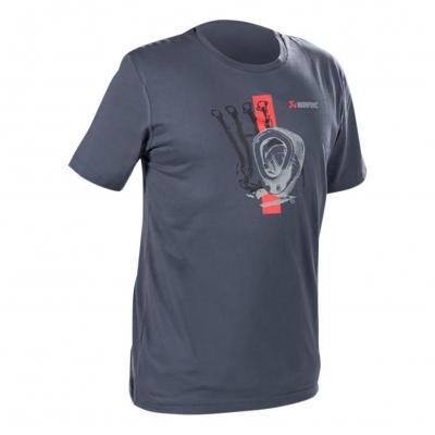 Tee-Shirt Akrapovic bleu/gris