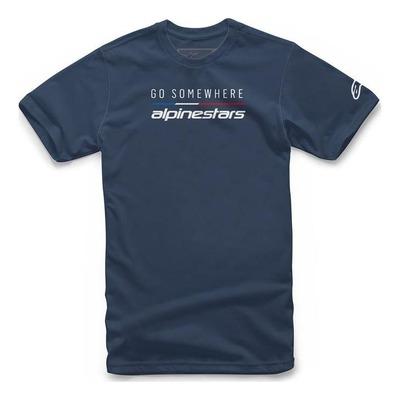 Tee-shirt Alpinestars Go Somewhere navy
