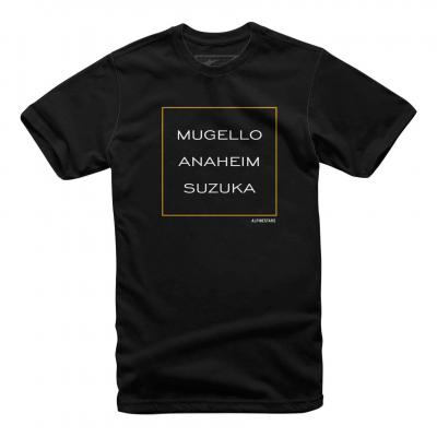 Tee-shirt Alpinestars Mugello noir