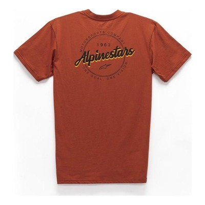 Tee-shirt Alpinestars Turnpike premium brique