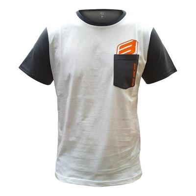 Tee-shirt Bud Racing B-Logo SS Pocket blanc/gris