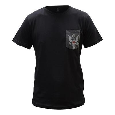 Tee-shirt Bud Racing Patriot Pocket noir/gris