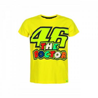 Tee-shirt enfant VR46 Valentino Rossi The Doctor jaune 2019