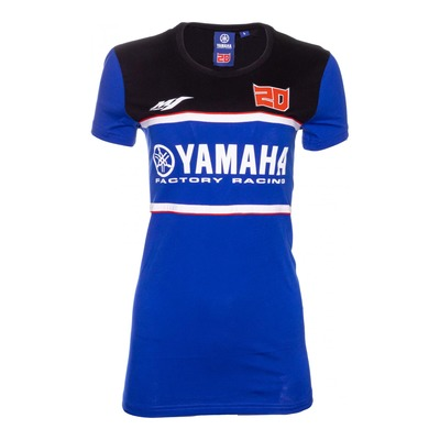 Tee-shirt femme Dual Yamaha Fabio Quartararo 20 bleu/rouge