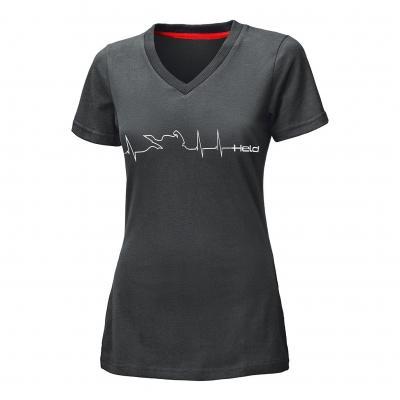 Tee-shirt femme Held BE HEROIC Design Heartbeat