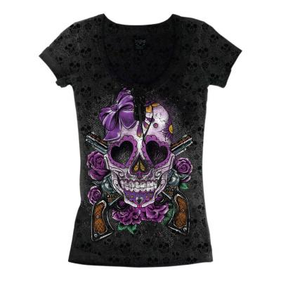 Tee-shirt femme Lethal Threat Day of the Dead Burnout noir/violet