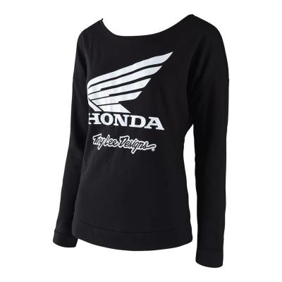 Tee-Shirt femme manches longuesTroy Lee Designs Honda Wing Crew noir