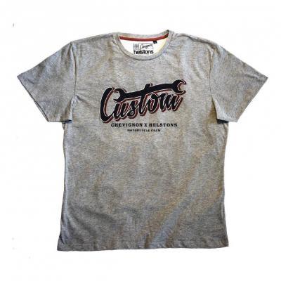 Tee-shirt Helstons Chevignon Custom gris chiné